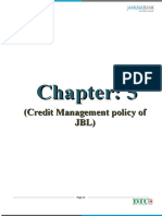 Chapter 5 Credit Management policy of JBL