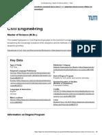 Civil Engineering - Master of Science (M.Sc.) - TUM