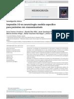 impresion 3d neurocirugia craneostomosis