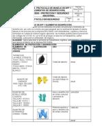 protocolo de manejo de EPP y elementos de desinfeccion