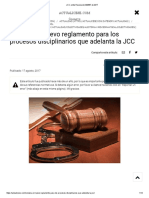 JCC emite Resolución 000667 de 2017 procedimiento disciplinario