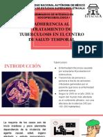 Adherencia al tratamiento de tuberculosis
