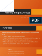 Present and Past Tenses Revision Uses