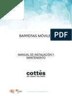 Manual instalación y mantenimiento barreras móviles