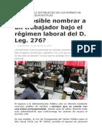 ES POSIBLE NOMBRAR A UN TRABAJADOR 276 - NORMAS DE CARRERA Y PRESUPUESTALES.docx