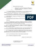 RESOLUÇÃO CFP Nº 0126.2007 - Título de Especialista