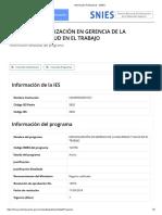 Información Poblacional - SNIES