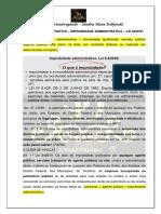 DIREITO ADMINISTRATIVO - Improbidade Administrativa