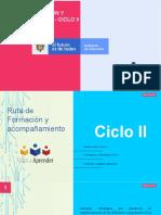 Ruta de Formación y acompañamiento - Ciclo II 2020