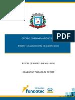 EDITAL CAMPO BOM 2020