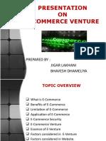 Presentation on E-Commerce Venture