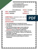 2.  PLAN DE CONTINGENCIA ORTOGRAFIA 3 PERIODO