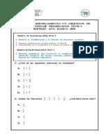 GUÍA DE REFORZAMIENTo N°2 OBJETIVOS PRIORIZADOS NIVEL 2 (7° BÁSICO 2020)