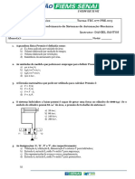 Avaliação hidráulica básica PRESENCIAL 2