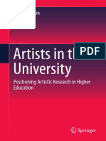Artists in the University  Positioning Artistic Research in Higher Education by Jenny Wilson (auth.) (z-lib.org)