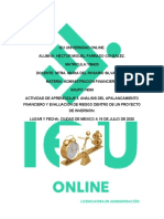 Actividad de Aprendizaje 3. Análisis del apalancamiento financiero y evaluación de riesgo dentro de un proyecto de inversión..docx
