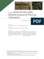 A propósito de uma estela funerária romana de Vila Caiz (Amarante)