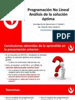 1 - 2 Programación No Lineal Análisis de la Solución Óptima.pdf