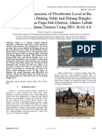 Modeling the Increase of Floodwater Level at the Junction of the Batang Suliti and Batang Bangko Rivers in Sungai Pagu Sub-District, Muaro Labuh City, Solok Selatan District Using HEC-RAS 4.0