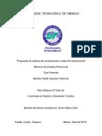 MEMORIA DE ESTADIA Propuesta de sistema de reclutamiento y seleccion de personal