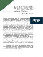 La facultad de filosofía y letras y sus postulados de acción social