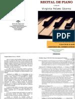 Programa- Concierto Piano  Virginia Palomo Cáceres