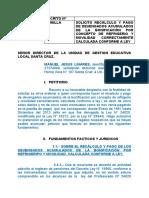 2. Peticion ante la UGEL Santa Cruz - Refrigerio y Movilidad