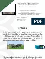 PARÁMETROS GENÉTICOS DE AGRESIVIDAD, FEROCIDAD Y LA