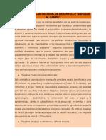 RESUMEN PLAN DE DESARROLLO