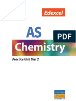 Edexcel AS Chemistry Practice Unit Test2
