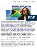 Kamala Harris - Jamaican Citizen at Birth