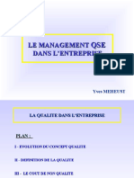 Cours 1 Qualit� (D�finition, Evolution du concept, CNQ)