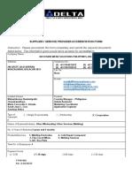 Delta - Supplier's Accreditation
