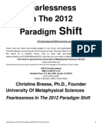 Fearlessness in the 2012 Paradigm Shift
