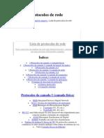 Lista de protocolos de rede
