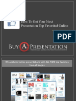 How to Get Your Presentation Top Favorited Online