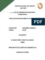 CINETICA ENZIMATICA CLASES 2020