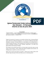 Informe Misionero El Salvador Junio 2020