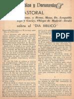 Carta Pastoral sobre el Dia Biblico - Mons Dr Leopoldo Eijo y Garay