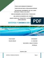 DINÁMICA Y ESTATICA DE LOS FLUIDOS-TRANSPORTE DE HIDROCARBUROS