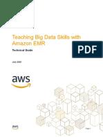 Teaching Big Data Skills with  Amazon EMR
