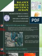 BALANCE HÍDRICO DE LA SUB CUENCA OCHAPE