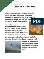 Kebakakaran di Kalimantan