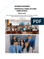 Informe Misionero Cabo Verde Africa Feb 2020