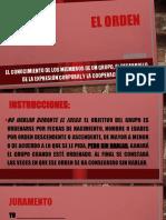 EL ORDEN