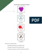 Various operations on sets using Venn Diagram