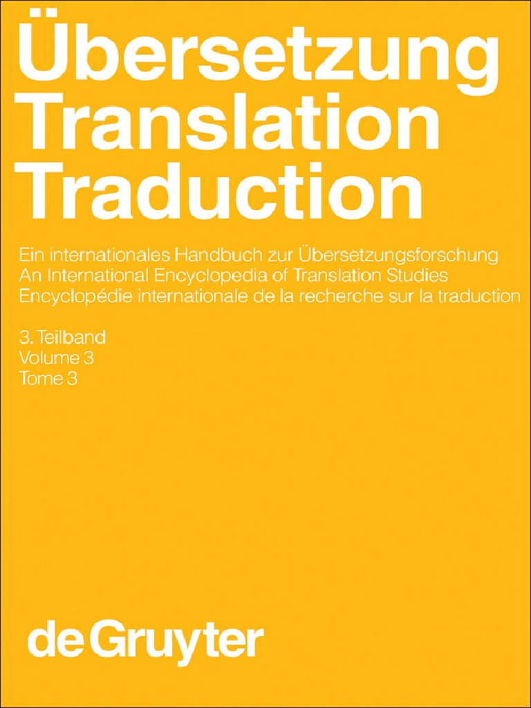 Übersetzung   Translation   Traduction. 18. Teilband by Harald ...