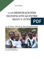 Sociales- CONMEMORACIONES SIGNIFICATIVAS