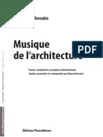 Xenakis, Musique de l'architecture