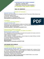 Programme commun Journées mondiales des zones humides2011